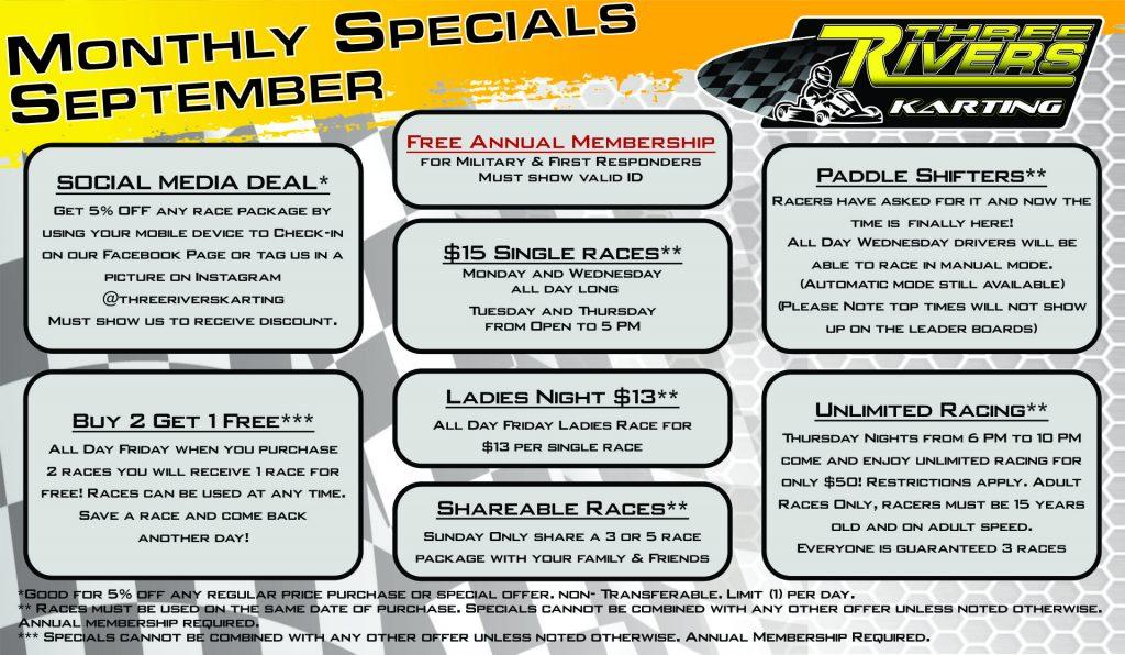 September 19 Specials